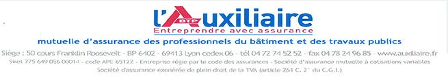 L'Auxiliaire entreprendre avec assurance : mutuelle d'assurance des professionnelles du bâtiment et des travaux publics